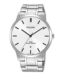 Pulsar Men's Analogue Silver Stainless Steel Bracelet Watch PS9525X1