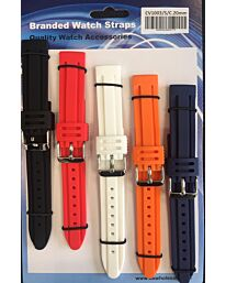 Heavy Duty rubber watch strap Multi-colour CV1003C