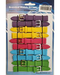 Leather Pastels Watch Straps Pk10 Available sizes From 6mm to 24mm 1005.04