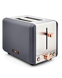 Tower 850W 2 Slice Stainless Steel Toaster - Grey/Rose Gold