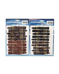 9001BR 10PK LEATHER WATCH STRAPS AVAILABLE SIZES 8MM - 20MM