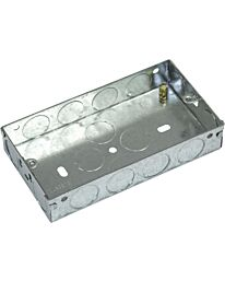 Eagle 2 Gang Zinc Plated Metal Back Box