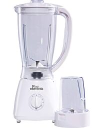 Fine Elements Jug Blender with Coffee Grinder Attachment, 1500ml Capacity White- SDA1907