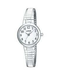 Lorus Women's Fashion Silver Expander Watch RG239NX9