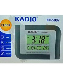 KADIO Digital LCD Clock with Time, Alarm, Snooze and Temperature KD-5887