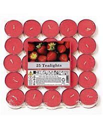 Aladino Strawberry Tealights Pack of 25- 021936D