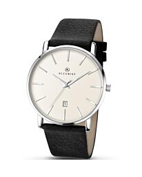 Accurist Mens Analogue Classic Quartz Watch with Leather Strap 7123