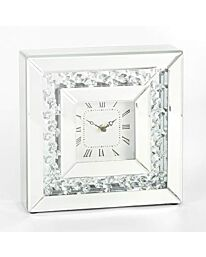 Hestia Mirror Glass Mantel Clock 25.5cm HE1395CK