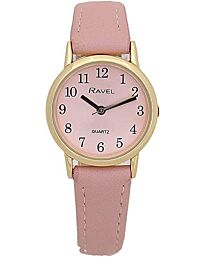 Ravel Ladies Classic Strap Watch Pink R0137.25.2
