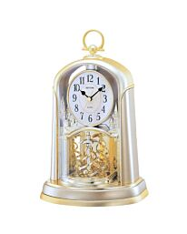 Rhythm Continental Mantel Clock Rotating Twist Pendulum - Gilt