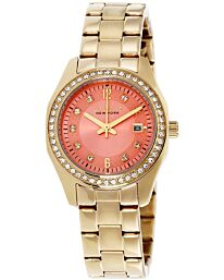 Caravelle New York Women's Gold-Tone-Stainless-Steel Bracelet Watch 44M110