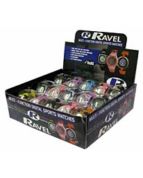 Ravel Ladies Boy Girl Mutl-Funtion Digital sports PVC Strap Watch RDIGI.7 Pack 15 assorted colours