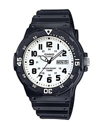 MRW-200H-7BVDF CASIO WATCH WHITE FACE BLACK NUMBERS
