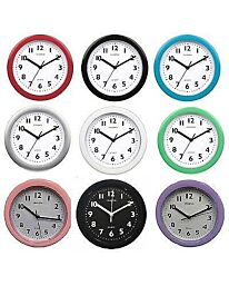 Champion Bold 9 inch Kitchen Black Wall Clock KC515 - Multiple Colour