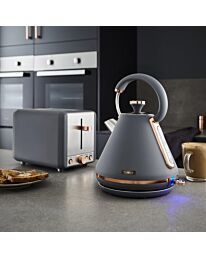 Tower Cavaletto Grey/Rose Gold Kettle & Toaster Set