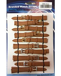 Leather Brown Tan Watch Straps Pk10 Available Sizes 10mm to 24mm 1008