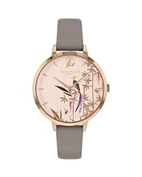 SARA MILLER BAMBOO GARDEN LADIES MINK LEATHER STRAP AVERY FOREST WATCH SA2094