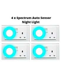 4 x Spectrum Automatic Sensor LED Night Light- Blue