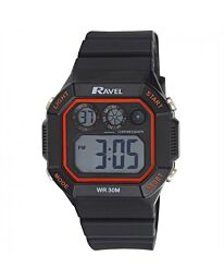 Ravel Adults Square Digital Watch Red RDG-20