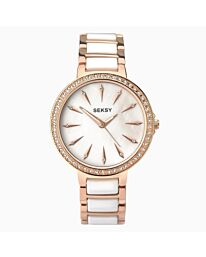 SEKSY Ladies Watch | Rose Gold Case & Alloy Bracelet with Rose Gold Dial | 2220