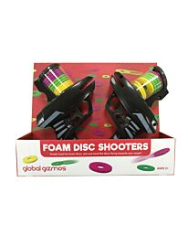 Global Gizmos 50310 Fun Twin Pack of Two Foam Disc Shooters