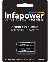 Infapower iDect Ni-Mh Rechargeable Batteries for Cordless Phone (Compatibility 122) T005 (Pack of 10)