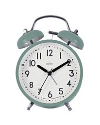 Acctim Newstead Analogue Double Bell Alarm Clock Green 15935