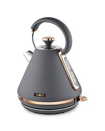 Tower Cavaletto 1.7L 3000W Pyramid Kettle - Grey/Rose Gold