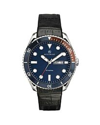 Accurist Men's Leather strap day/date Watch 7225