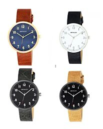 Henley Mens Leather Strap Watch- Multiple Colours H02195