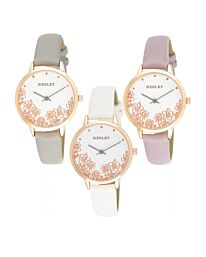 Henley Women's Fashion Casual Filigree Floral Watch H06155