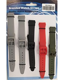 PU Watch straps 5pk Assorted solid colours 230 18mm