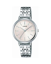 Lorus Ladies Stainless Steel Bracelet Watch Pink Dial RG297PX9