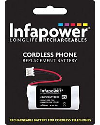 Infapower 2 x AAA Ni-Mh Rechargeable Batteries for Cordless Phone (Compatibility 89) T008 (Pack of 10)