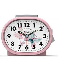 Ravel Butterfly Dial Alarm Clock Pink RC033.15