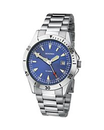 Sekonda Gents Blue Dial Watch With Stainless Steel Bracelet And Date Display 3279