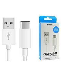 AA CHARGE-IT USB-C Cable-1M-White