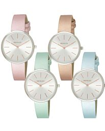 Henley Women's Fashion Casual Modern Rose Faux Leather Strap Watch H06152