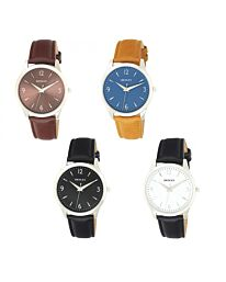 Henley Mens Contemporary City Watch Leather Strap Watch H02196