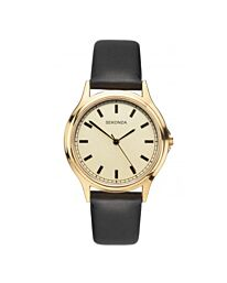 Sekonda Men's Classic Gold Case Leather Strap Watch 1529