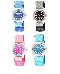 Ravel Deluxe Boy's Girl's 5ATM Bold Fabric Strap watch RD12