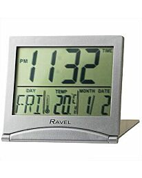 RAVEL DIGITAL TRAVEL FLIP DIGITAL LED ALARM CLOCK WHITE RCD004.4