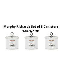 Morphy Richards Set of 3 White Accents Small Storage Canister