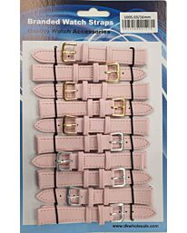 Leather Pink Watch Straps Pk10 Available sizes from 6mm To 24mm 1005.03