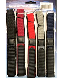 Velcro Watch Straps Assorted Colours 18/20/22mm 4001GVC