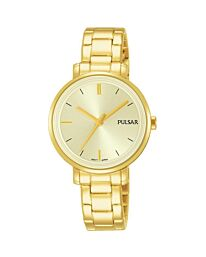 Pulsar Women's Fashion Designer Gold Bracelet Watch PH8360X1