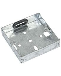 Eagle Single Gang Zinc Plated Metal Back Box