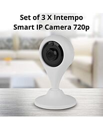 3 X Intempo Indoor Security Smart IP Camera 720p