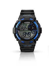 Sekonda Mens Digital Alarm Timer Black Chronograph Sports Watch 1035