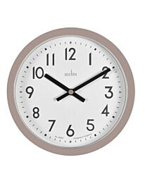 Acctim Elstow 20cm Wall Clock in Taupe 22846